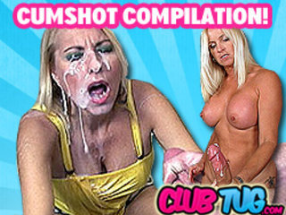 Cumshot from Handjob Compilation